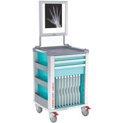 CARRELLO MULTIFUNZIONE con NEGATIVOSCOPIO COMPACT KART 2 - 2 cassetti piccoli - 1 cassetto medio - 10 divisori - 65,4x60,5x.h97,5cm