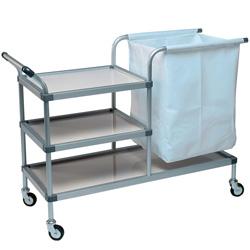 CARRELLO PORTA BIANCHERIA in alluminio - 112x57x.h91,5cm - capacità 50kg