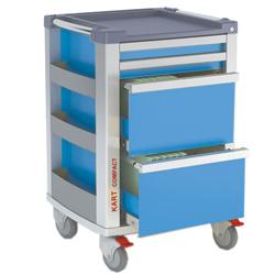 CARRELLO MULTIFUNZIONE COMPACT KART - 65x60x.h97cm - azzurro