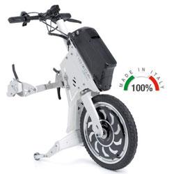 PROPULSORE ANTERIORE ELETTRICO TIBODA® per sedie a rotelle - Potenza motore 300W - vari colori