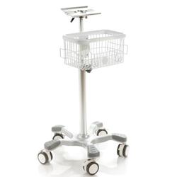 CARRELLO per ECG, MONITOR PAZIENTE - diam.53x85-110cm - portata 18kg
