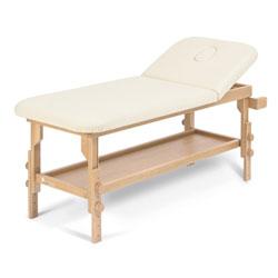 LETTINO VISITA MEDICA TRATTAMENTI CON PIANO APPOGGIO REGOLABILE IN ALTEZZA e PORTAROTOLO - 189x65x.h63-87cm - portata 200kg