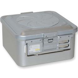 CONTENITORE / CONTAINER CON VALVOLA piccolo - 285x280xmm - h150mm - non perforato - grigio