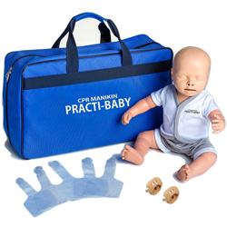 MANICHINO LATTANTE PRACTI-BABY PER RCP - con borsa di trasporto