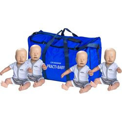 MANICHINO LATTANTE PRACTI-BABY PER RCP - set 4 pz - con borsa di trasporto