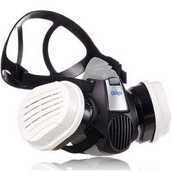 SET MASCHERA FACCIALE FILTRANTE - DRAGER X-PLORE 3300M + 2 cartucce filtro A2P2 R D sostituibili