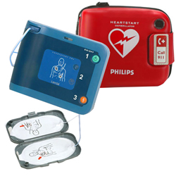 DEFIBRILLATORE DAE SEMIAUTOMATICO PHILIPS HEARTSTART FRx con borsa e accessori
