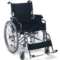 SEDIA A ROTELLE / CARROZZINA PIEGHEVOLE PER ADULTI - disabili e anziani - larghezza seduta 45cm - portata 100kg