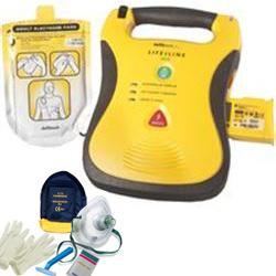 DEFIBRILLATORE DAE SEMIAUTOMATICO DEFIBTECH LIFELINE AED con PIASTRE ADULTO, BATTERIA 7ANNI + KIT BLSD - garanzia 8 anni