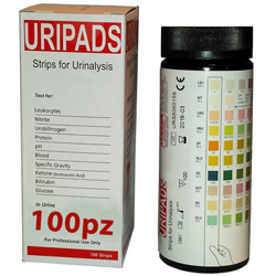 STRISCE URINE VISUAL - 10 parametri - solo uso professionale - flacone conf.100pz