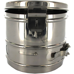 CESTELLO DRUM PER STERILIZZAZIONE in acciaio inox - autoclavabile - Ø12xh.12cm