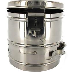CESTELLO DRUM PER STERILIZZAZIONE in acciaio inox - autoclavabile - Ø14xh.14cm