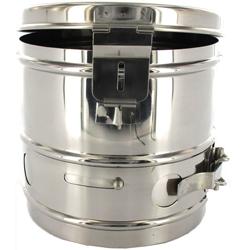 CESTELLO DRUM PER STERILIZZAZIONE in acciaio inox - autoclavabile - Ø24xh.24cm
