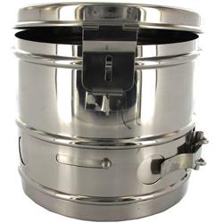 CESTELLO DRUM PER STERILIZZAZIONE in acciaio inox - autoclavabile - Ø29xh.16cm