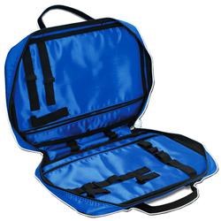 BORSETTA / ASTUCCIO BORSA PER MEDICAZIONE in cordura con elastici - 34x24xh.7cm - blu