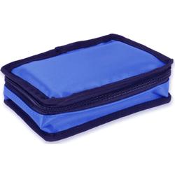 BORSA TERMICA MINI PER MEDICINALI TERMOLABILI in nylon - 17x11,5xh.5,5cm - vuoto - blu
