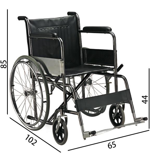 Sedia a rotelle carrozzina pieghevole standard for Misure cuscino carrozzina