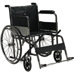SEDIA A ROTELLE / CARROZZINA PIEGHEVOLE STANDARD - disabili e anziani - adulti