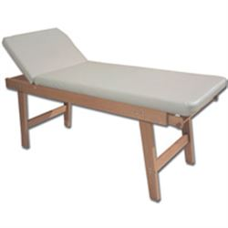 LETTINO VISITA MEDICA REGOLABILE 13 POSIZIONI in legno massello di faggio - 190x70xh.75cm - portata 150kg - crema