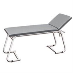 LETTINO VISITA MEDICA REGOLABILE in metallo verniciato bianco - 180x61xh.75cm - portata 100kg - grigio