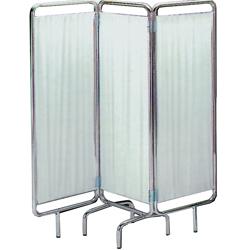 PARAVENTO A 3 SEZIONI - in alluminio  - senza ruote