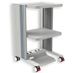 CARRELLO EASY - 3 ripiani - elettrificato - 50x45xh.79cm
