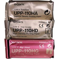 CARTA TERMICA PER STAMPANTE SONY - UPP110HD / UPP110HG / UPP110HA  - Conf.5pz