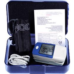 PULSOSSIMETRO SATURIMETRO DA DITO OXY 5 - allarmi sonori e visivi - adulti e pediatrico