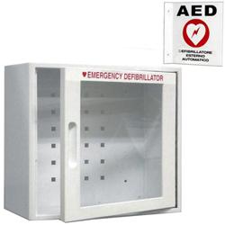 ARMADIETTO TECA A MURO DEFIBRILLATORE - 34x18xh.33cm - con allarme + cartello (in omaggio)