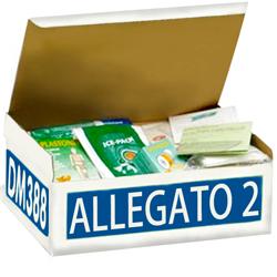 PACCO SET KIT REINTEGRO ARMADIETTO PRONTO SOCCORSO 626 - ALLEGATO 2 BASE - fino 2 lavoratori