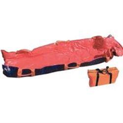 MATERASSO A DEPRESSIONE VACUUM MAT con borsa - 200x75cm - rosso - portata 150kg