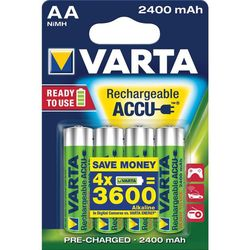 BATTERIE RICARICABILE STILO VARTA - 1,5V - 2400mAh - TIPO AA - blister 4pz