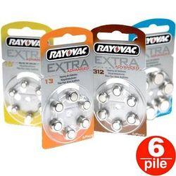 BATTERIE PILE ACUSTICHE A BOTTONE- tipo 675 / 13 / 312 / 10 - RAYOVAC - conf. 6pz - vari modelli