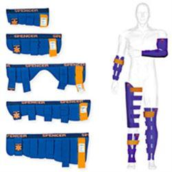 STECCOBENDE KIT BLUE SPLINT - KIT 5 MISURE - anima flessibile - chiusura con velcro