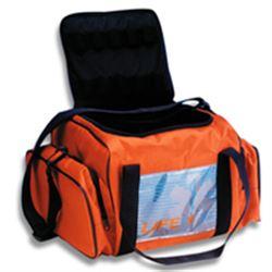 BORSA EMERGENZA SOCCORSO LIFE BAG 1 - 34x80xh.20cm - piena - arancione