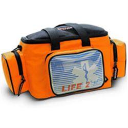 BORSA EMERGENZA SOCCORSO LIFE BAG 2 - 42x19xh.20cm - vuota - arancione