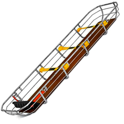 BARELLA TOBOGA BASKET DAKOTA LIGHT in acciaio - 205x48xh.18,5cm - peso 14,5kg - postura 290kg
