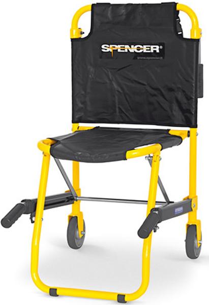 Sedia portantina da evacuazione a 2 ruote spencer 420 for Sedia da ufficio gialla