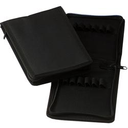 BORSETTA / AMPOLLARIO ASTUCCIO PORTAFIALE MINI in cordura - 18x14xh.2cm - (x10fiale/provette) - nero