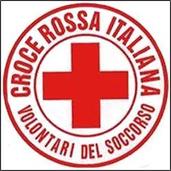 ADESIVO RIFRANGENTE STICKER REFLEXITE CON LOGO CROCE ROSSA ITALIANA VDS - rotondo Ø 50mm