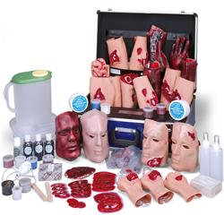 SET 4 PER SIMULAZIONE FERITE / ESERCITAZIONI SOCCORSO MEDICO - valigetta+kit completo