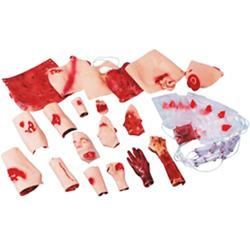 SET PER SIMULAZIONE FERITE / ESERCITAZIONI SOCCORSO MEDICO - ferite sanguinanti e non sanguinanti