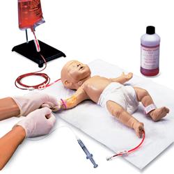 MANICHINO SIMULATORE DI NEONATO - per addestramento accesso vascolare