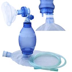 PALLONE DI VENTILAZIONE MONOUSO + maschera n.3 - reservoir - tubo ossigeno con nuova valvola ALL-IN-ONE - pediatrico completo