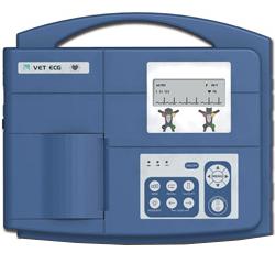 ELETTROCARDIOGRAFO ECG VETERINARIA VE-300 - 7 DERIVAZIONI - 3 canali - batteria ricaricabile