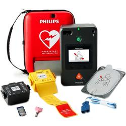 DEFIBRILLATORE DAE SEMIAUTOMATICO PHILIPS FR3 display ECG e borsa - garanzia 5anni