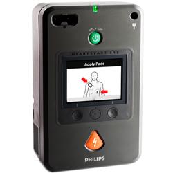 DEFIBRILLATORE DAE SEMIAUTOMATICO PHILIPS FR3 senza ECG + Batteria + Coppia elettrodi + Borsa - adulto / pediatrico - garanzia 5anni