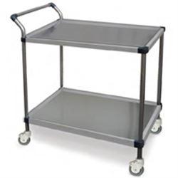 CARRELLO OSPEDALIERO PER MEDICAZIONE in acciaio inox - 2 ripiani - 60x40xh.81cm