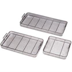 CONTENITORE IN FILO in acciaio inox - 145mm - varie misure