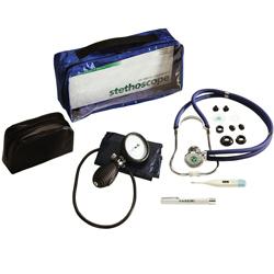 SET DIAGNOSTICO - sfigmo + steto + laccio emostatico + termometro digitale + lampada visita